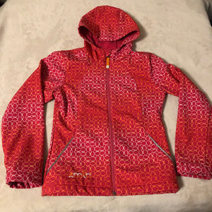 Spring/Fall Jacket with hood size L (10-12)